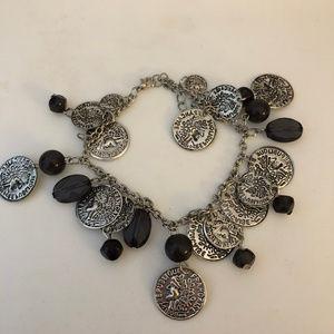 Jewelry - Black & Silver Coin Bracelet/Anklet